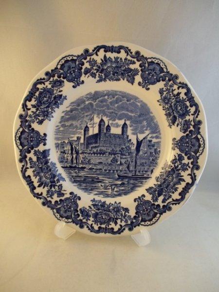 "Kuchenteller ""Royal Homes of Britain"" Blau"