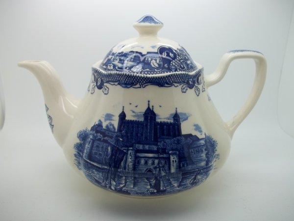 """Teekanne """"Old London"""" Blau"""