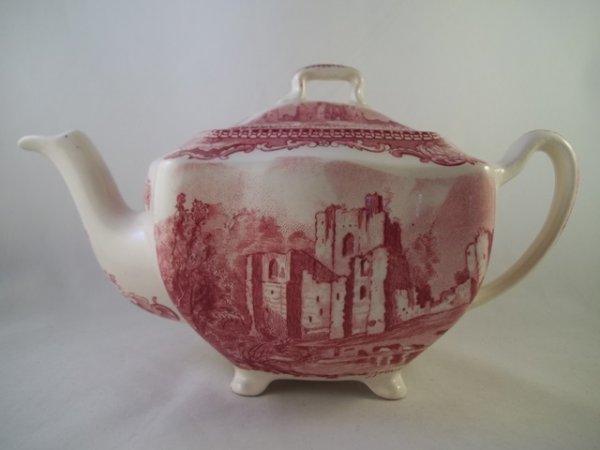"Teekanne, mittel ""Old Britain Castles"" Rot"