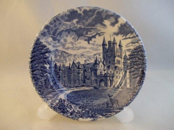 """Teller, klein, rund """"Royal Homes of Britain"""" Blau c"""