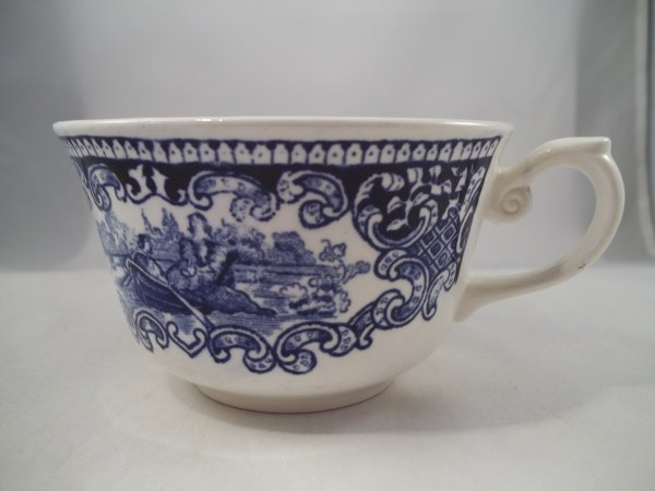 "Teetasse ""Cambridge Old England"" Blau"