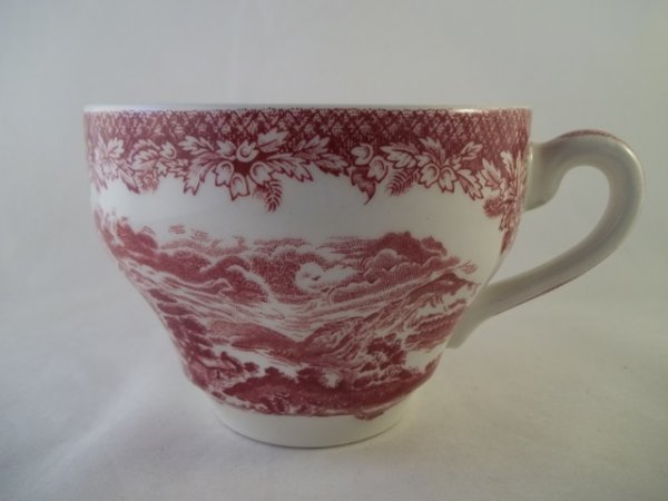 "Kaffeetasse ""Lochs of Scotland"" Rot"