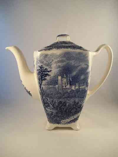 "Kaffeekanne ""Old Britain Castles"" Blau"