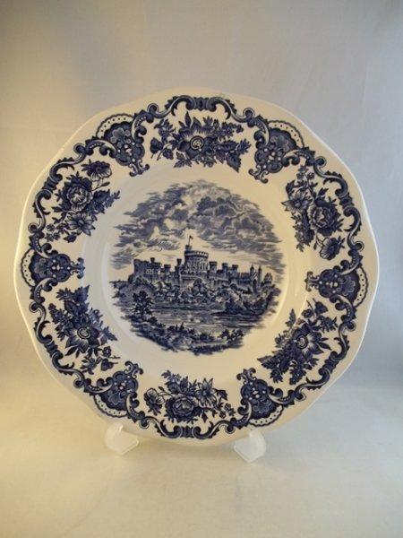 "Suppenteller ""Royal Homes of Britain"" Blau"