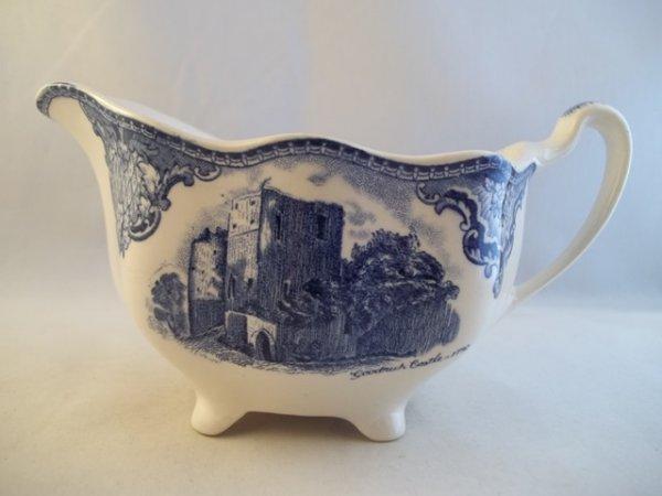 """Milchkännchen gross """"Old Britain Castles"""" Blau"""