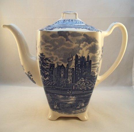 """Kaffeekanne groß """"Old Britain Castles"""" Blau"""