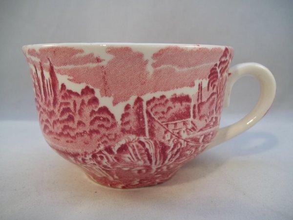 "Teetasse mit Untere ""Thames River Scenes"" Rot"