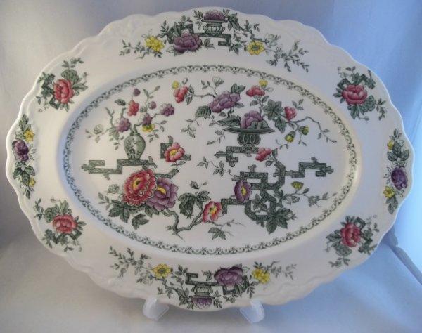 """Platte, oval """"Chinese Garden"""" Grün Bunt"""