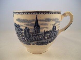"""Kaffeetasse m. Innendekor """"Old Britain Castles"""" Blau"""