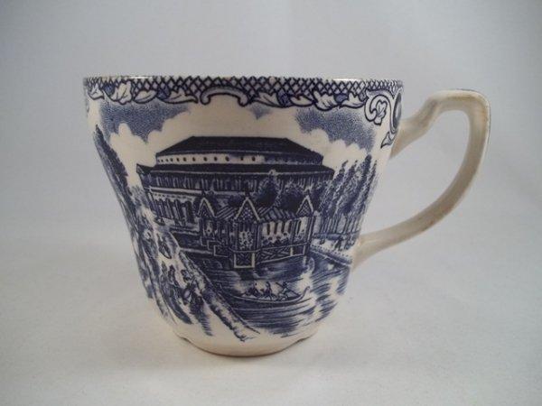 """Kaffeetasse """"Old London"""" Blau"""