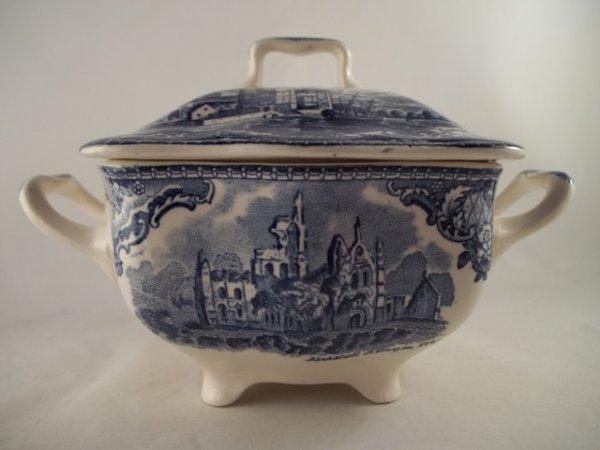 """Zuckertopf groß """"Old Britain Castles"""" Blau"""