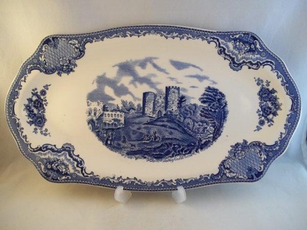 """Königskuchenplatte """"Old Britain Castles"""" Blau"""