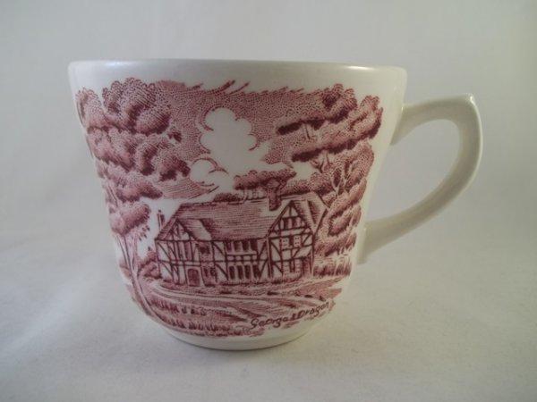 "Kaffeetasse ""English Country Inns"" Rot"