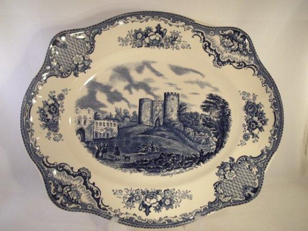 """Platte, klein """"Old Britain Castles"""" Blau"""