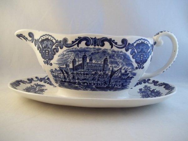 "Sauciere ""Royal Homes of Britain"" Blau"