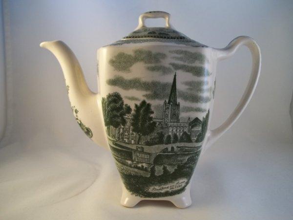 """Kaffeekanne klein """"Old Britain Castles"""" Grün"""