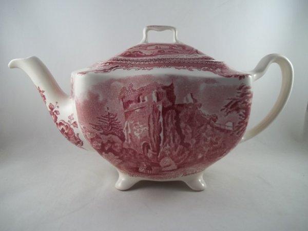 """Teekanne, groß """"Old Britain Castles"""" Rot"""