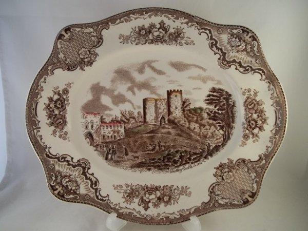 "Platte, eckig ""Old Britain Castles"" Braun"