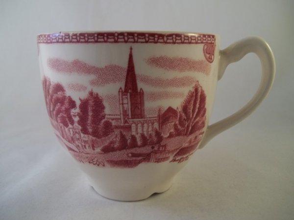 "Kaffeetasse ""Old Britain Castles"" Rot"