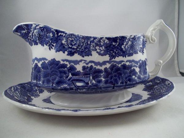 """Sauciere """"English Scenery"""" Blau"""