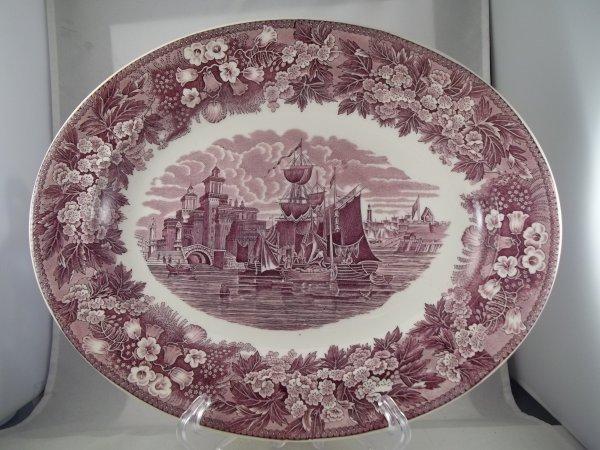 "Platte oval gross ""Ferrara"" Violett"
